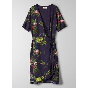 Aritzia Babaton Wallace Wrap Dress NWT